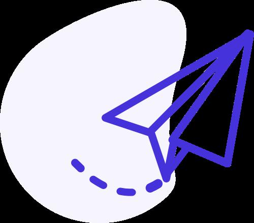 ikona papierového lietadielka